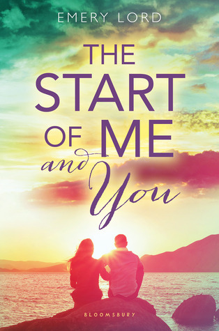 The Start of Me and You, Emery Lord, Sunset, Hugging, Two people, Cover